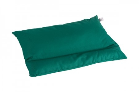pillow with buckwheat hull green